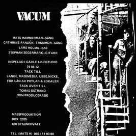 VACUM - EP  ( 6 låtar - svart vinyl)